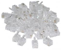 RJ22 4P/4C Connectors for Flat Cable