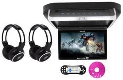 "Rockville RVD10HD-BK 10.1"" Flip Down Monitor DVD Player, HDM"