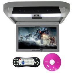 "Rockville RVD10HD-GR 10.1"" Flip Down Monitor DVD Player, HDM"