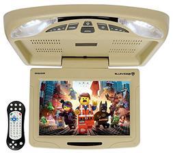 "Rockville RVD12HD-BG 12"" Beige Flip Down Car Monitor DVD/USB"