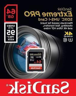 SanDisk Extreme Pro 64GB SDXC UHS-I Memory Card