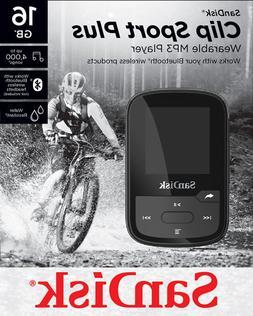 SanDisk Sansa Clip Sport Plus Black 16GB MP3 Bluetooth Playe