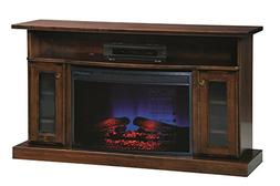 """Sap Cherry 49"""" Electric Fireplace TV Stand"""