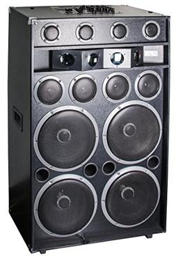 QFX SBX-412401BTS Bluetooth Cabinet Speaker with Disco Light