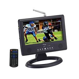 "Supersonic SC-499D 9"" LCD Portable Digital TV with AC/DC Ada"