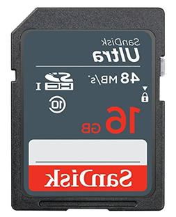 SanDisk 16GB SD Ultra 48MB/s 320X Class 10 C10 UHS-I 16G SDH