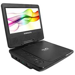 "Sylvania SDVD7078 Portable DVD Player 7"" Swivel Screen, Blac"