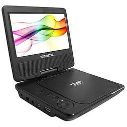 "Sylvania SDVD7078 Portable DVD Player 7"" Swivel Screen, Blac"