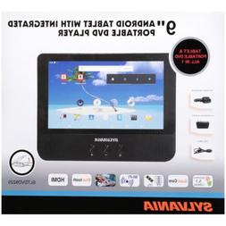 """SEALED  Sylvania 9"""" Android Tablet with Portable DVD Player"""