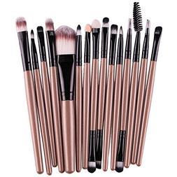DATEWORK 15 pcs/Sets Foundation Eyebrow Lip Brush Makeup Bru