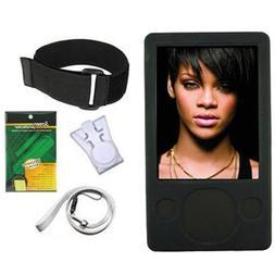 iShoppingdeals - Black Silicone Skin Case Cover + Lanyard +