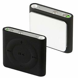 Silicone Skin Case for iPod Shuffle 4th Gen - Black