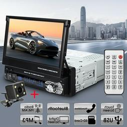 """Single 1Din 7"""" Flip Car Stereo Radio Player Touch Screen BT"""