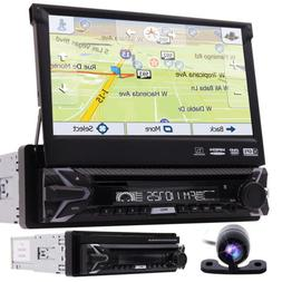 single 1din flip out 7 car stereo