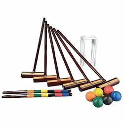 NEW Franklin Sports Six Player Croquet Expert Set with carry
