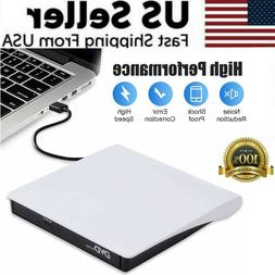Slim External CD DVD Drive USB 3.0 Disc Player Burner Writer