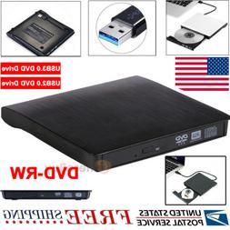 Slim External USB 3.0 2.0 DVD RW CD Drive Burner Reader Play