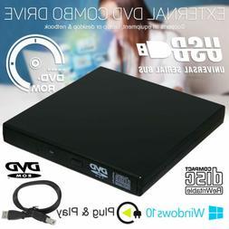 New Slim Portable USB 2.0 External Optical DVD-ROM CD-RW Bur