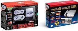 SNES and NES Nintendo Entertainment System Classic Bundle Re