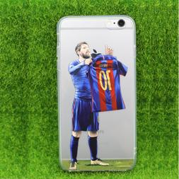 Soccer Player Messi Silicone Phone Cover case for iPhone X 7