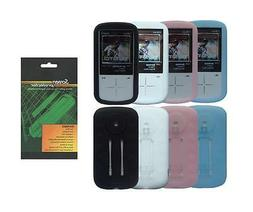 Soft Skin Cover Case and Screen Protector for Sandisk Sansa