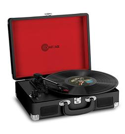 Photive SoulTracks Portable 3-Speed Suitcase Turntable with
