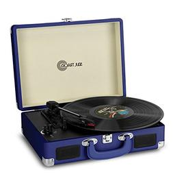 Photive SoulTracks Portable 3-Speed Turntable with Built in