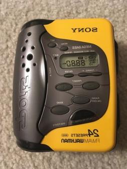 Sony Sports Walkman AM/FM Radio Cassette WM-FS473 -Works -Ye