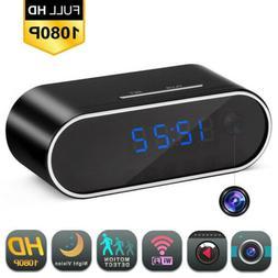 Spy Camera Clock WiFi Hidden Wireless Night Vision Security