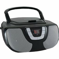 SYLVANIA SRCD243M BLACK Portable CD Radio Boom Box