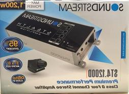 Soundstream ST4.1200D 1200 Watt Compact 4-Channel Motorcycle