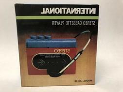INTERNATIONAL Stereo Cassette Player Model AK -18  NEW in Bo