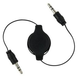 stereo plug retractable cable