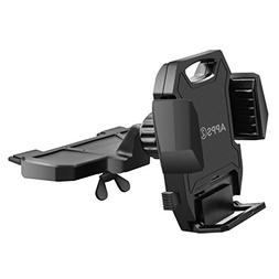 Sturdy CD Player Phone Mount, Three Side Grips CD Slot Car P