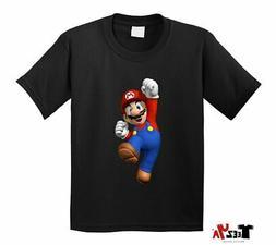 Super Mario KIDS T-shirt Nintendo Player Hero Cool Youth Tee