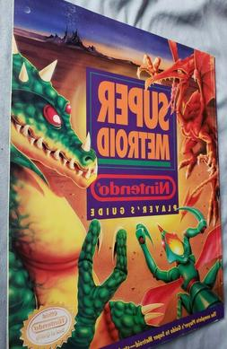 SUPER METROID PLAYER'S GUIDE SNES NINTENDO STRATEGY BOOK SAM