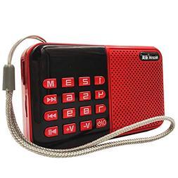 radio Support TF U Disk Older MP3 Player, Portable Mini Full