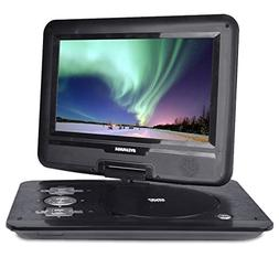"Sylvania 10.1"" 180° Swivel Portable DVD Player with USB Por"