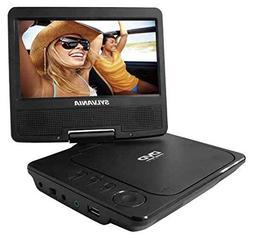 Sylvania 7-Inch Portable DVD Player, Swivel Screen, USB/SD C