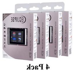 4 Pack Eclipse T180 1.8 4GB MP3 Clip Style Audio LCD Video P