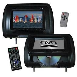 "Tview 7"" In Headrest Monitor with DVD Player Built in Speake"