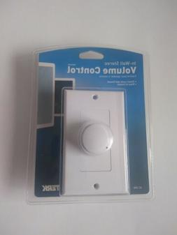 TERK In-Wall Stereo Volume Control, MPN: VC-RW  - NEW SEALED