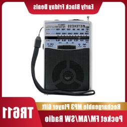 Retekess TR611 Portable AM FM Radio Mini Transistor Shortwav