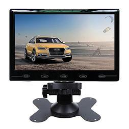 "HD 7"" Ultra Thin 1024*600 TFT LCD Color 2 Input Car Rear Vie"