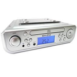 Craig Under Cabinet CD Player with AM/FM Radio, Alarm Clock,