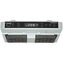 Under Cabinet Clock Radio Music System With Bluetooth Stream