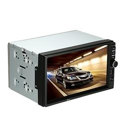 KKmoon 7 Inches Universal 2 Din HD Bluetooth Car Stereo FM R