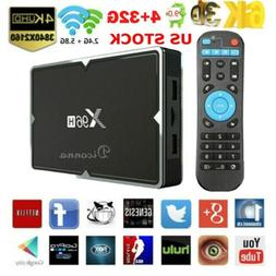 US Android 9.0 Smart TV BOX RK3328 4GB+16GB 64GB 4K Wifi Med