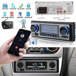 US~Vintage Car Bluetooth Radio MP3 Player Stereo USB/AUX Cla