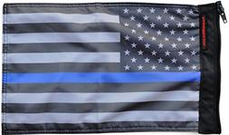 Forever Wave USA Subdued Thin Blue Line Flag